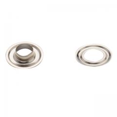 Oesen silber, 12 mm, Nickel,  500 Stück