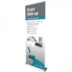 Roll-Up Expo Einseitig Model 83cm Alu