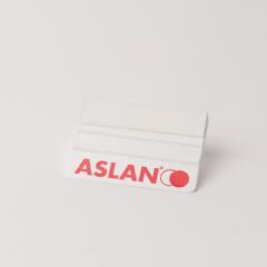 ASLAN Rakel weiss , Plastik mit Filzkante