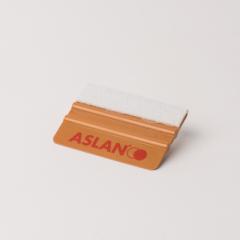 ASLAN Rakel gold, Plastik mit Filzkante