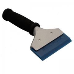 Power Squeegee blau (semi soft) mit Guss-Handgriff