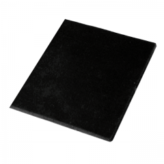 Moosschaum-Gummimatte schwarz ca. 50 x 50 cm